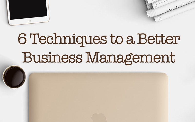 6 Techniques To A Better Business Management